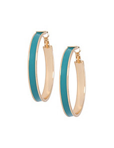 Colored hoop earrings by Lane Bryant by LANE BRYANT