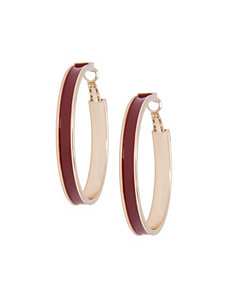 Colored hoop earrings by Lane Bryant