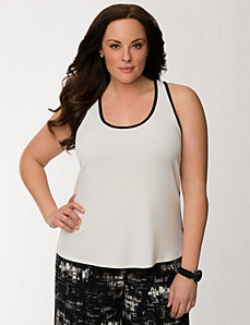 Lane Collection racer back tank by LANE BRYANT
