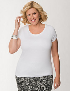 Delicate ribbed tee by LANE BRYANT