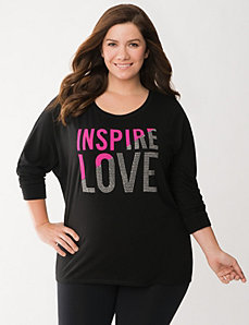 Inspire Love dolman top by LANE BRYANT