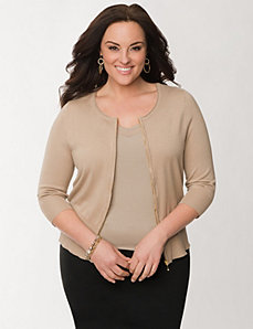 Zip front cardigan by LANE BRYANT