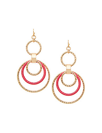 Thread wrapped hoop earrings by Lane Bryant