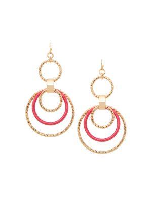 Thread wrapped hoop earrings by Lane Bryant