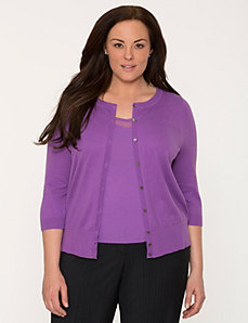 3/4 sleeve cardigan by LANE BRYANT