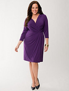 Faux wrap dress by LANE BRYANT