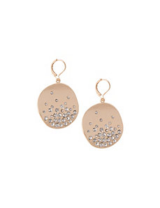 Cubic zirconium disc earrings by Lane Bryant