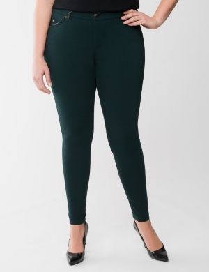 Trimmed ponte skinny pant by Seven7