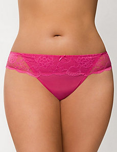 Lace waist thong panty by LANE BRYANT