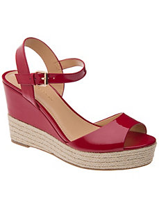 Patent espadrille wedge by LANE BRYANT