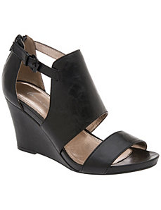 Two strap wedge sandal