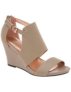 Two strap wedge sandal by LANE BRYANT