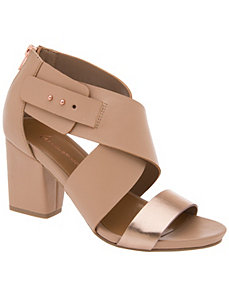 Colorblock city sandal by LANE BRYANT