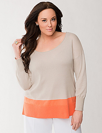 Lane Collection colorblock sweater