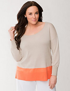 Lane Collection colorblock sweater by LANE BRYANT