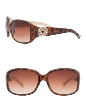 Rhinestone medallion sunglasses