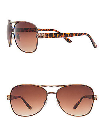 Embellished animal aviator sunglasses