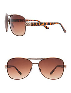 Embellished aviator sunglasses by LANE BRYANT