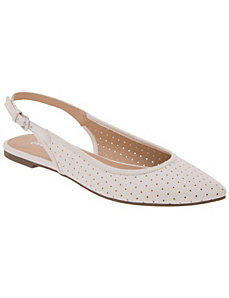 Perforated sling-back flat