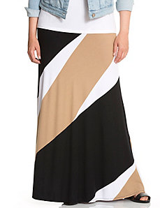 Diagonal stripe maxi skirt by LANE BRYANT