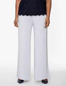 Crepe wide leg pant by LANE BRYANT