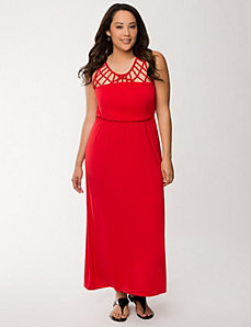Lattice maxi dress by LANE BRYANT