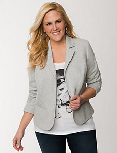 French terry blazer by LANE BRYANT