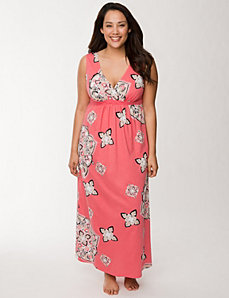 Medallion surplice sleep maxi