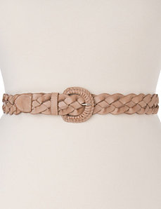 Woven leather belt by LANE BRYANT