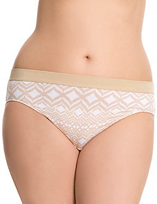 Cotton hipster panty with contrast waist