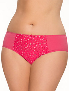 Crocheted cotton hipster panty by LANE BRYANT