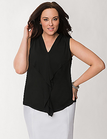 Plus Size Ruffled Shell by Lane Bryant