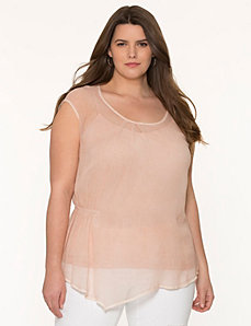 Asymmetric layered top by DKNY JEANS