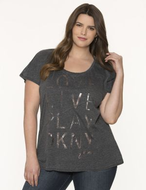 Foiled logo tee by DKNY JEANS