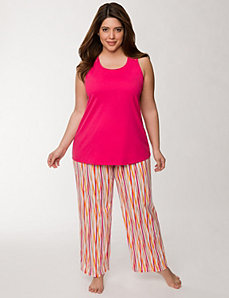 2-piece crossed stripe sleep set by LANE BRYANT