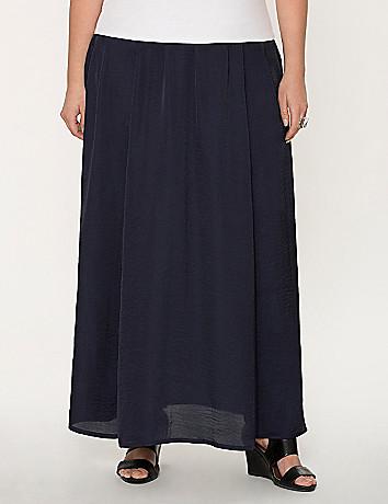 Satin maxi skirt