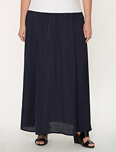 Satin maxi skirt by LANE BRYANT