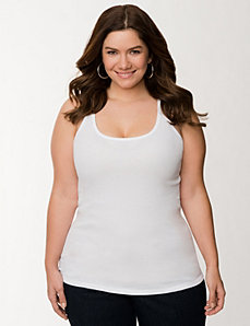 Lace back tank by LANE BRYANT