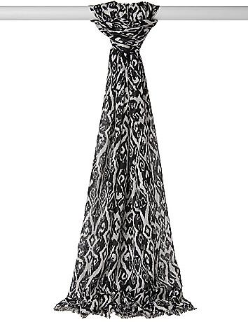 Damask print scarf