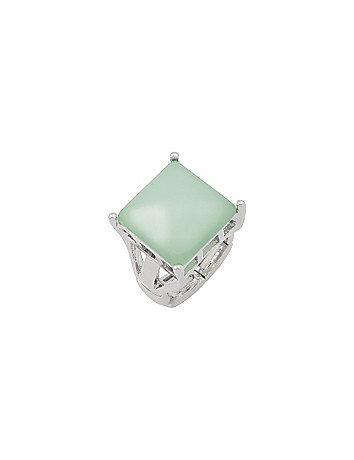 Square stone ring by Lane Bryant