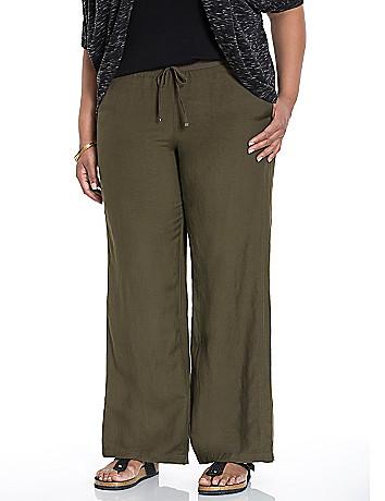 Linen wide leg pant size 12 - 28