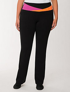 Colorblock yoga pant by LANE BRYANT