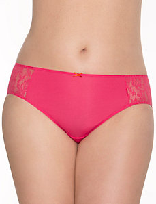 Dazzler hipster panty with lace sides by LANE BRYANT
