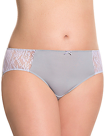 Dazzler hipster panty with lace sides
