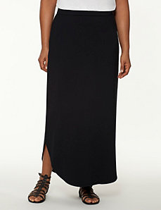 Shirttail maxi skirt