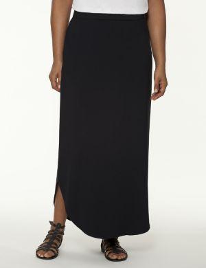 Shirttail maxi skirt