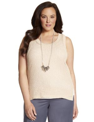 Lane Collection sweater tank