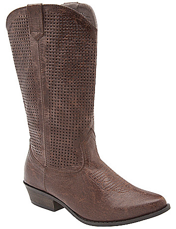Perforated cowboy boot