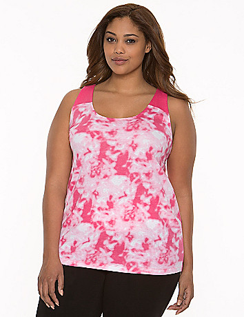 Printed racer back tank