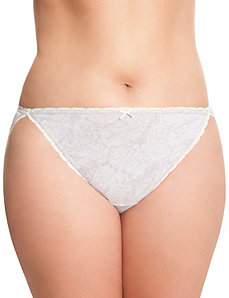 Sassy Cotton string bikini panty with lace detail